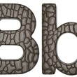 Alligator skin font B lowercase and capital letters — Stock Photo #5695296