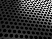 Close-up of black grill on black — Stock Photo
