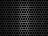 Metallic grill texture on black background — Stockfoto