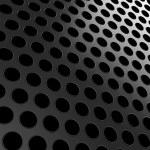 Close-up of black aluminum grill — Stock Photo #5753288