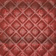 Red Alligator skin with stitched rectangles — Stock Photo
