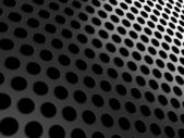 Close-up of black aluminum grill — Stock Photo