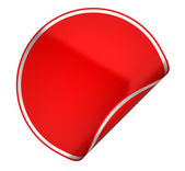 Red round sticker or label on white — Stock Photo