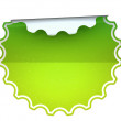 Stock Photo: Green spotted round sticker or label