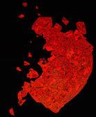 Broken Heart: unrequited love or death — Stock Photo
