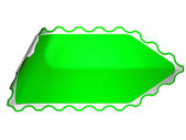 Green jagged sticker or label — Stock Photo