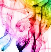 абстрактный красочные дым узор на белом фоне — Стоковое фото