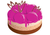 Cake with berry jam — Stock Vector