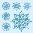 Vector set of different snowflakes — Stock Vector #6587714