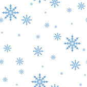 Seamless vector pattern of the Snowflakes — Stock Vector
