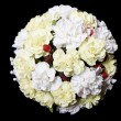 Stock Photo: Wedding Bouquet on black background