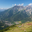 Courmayeur aerial view — Stock Photo