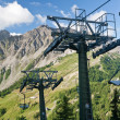 Chair lift in Italian Alps — Stock Photo