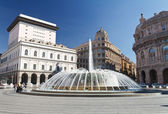 Piazza De Ferrari, Genova - De Ferrari squre, Genoa, Italy — Stock Photo