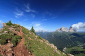 Pordoi pass Belvedere, Italian Dolomites — Stock Photo