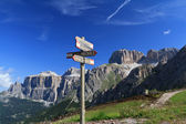 Signs and Dolomites — Stock Photo