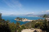 Tigullio Gulf with Sestri Levante, Italy — Stock Photo
