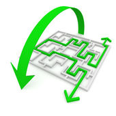 Various ways of passing the maze — Stock Photo