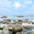 Stones into the sea — Stock Photo