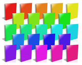 Many colored ring binder. — Stock Photo