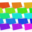 Stock Photo: Many Colored Business Card.