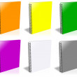 Stock Photo: Ten ring binder