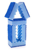 House made of blue sponges — Stock Photo
