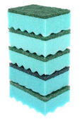 Five green sponges — Stock Photo