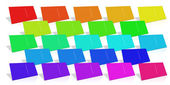 Many Colored Business Card. — Stock Photo