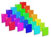Many colored box. — Stock Photo