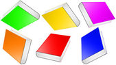 Many colored book. — Stock Photo