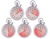 Stopwatch. 10,20,30,40,50 seconds. — Stock Photo