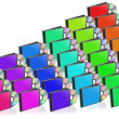 Stock Photo: Many colored CD and Case