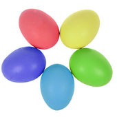 Five easter eggs in circle — Stock Photo
