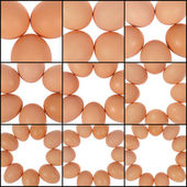 Figure from eggs — Stock Photo