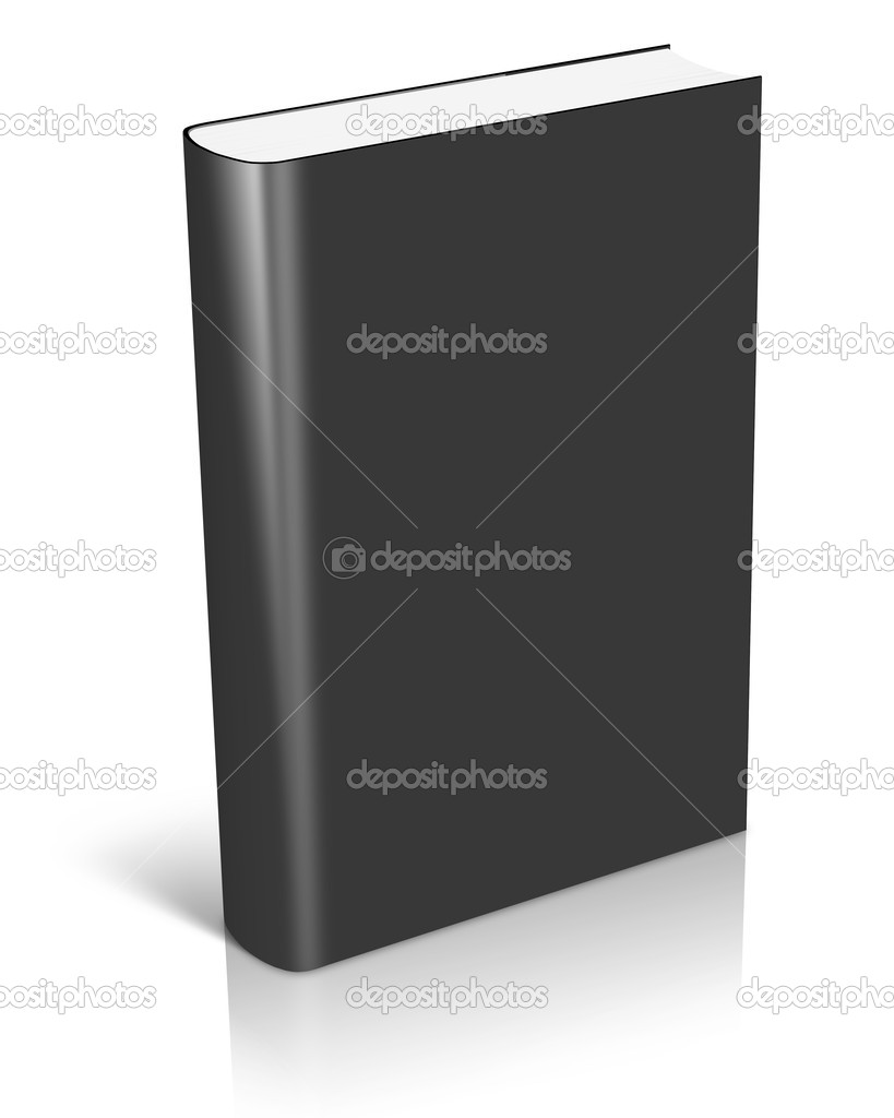 Book With Black Cover ~ Blank black book cover — stock photo akova
