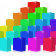 Many colored box. — Stock Photo