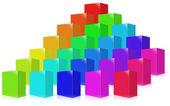 Muitos colorido caixa. — Foto Stock