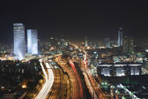Tel Aviv at Night — Stock Photo
