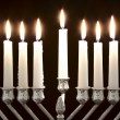 Hanukkah Menorah / Hanukkah Candles — Stockfoto