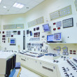 Power Station Control Room - Stock Photo