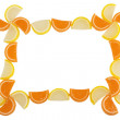 Frame of Fruit Candy — Stock Photo