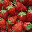 Fresh strawberry background - Stock Photo