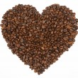 Stock Photo: Heart shape made from coffee beans