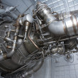Stock Photo: Rocket engine exposed