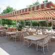 Restaurant outdoors - Stock Photo