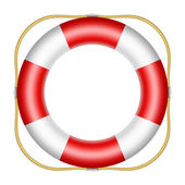 Red lifesaver buoy — Stock Photo