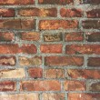 Old wall made from red bricks — Photo #6073180