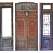 Set of aged doors - Stok fotoraf