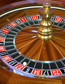 Close up of roulette wheel — Stock Photo